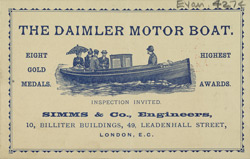 Advert for Daimler Motor Boats
